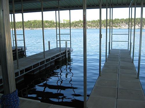 slips at hideaway marina on table rock lake